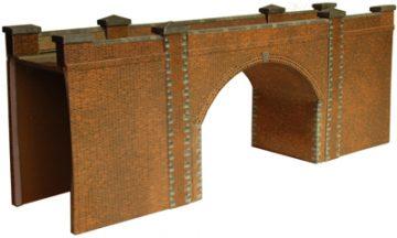 Red Brick Bridge or Tunnel Entrance
