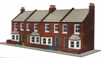 Four Red brick Terrace Fronts