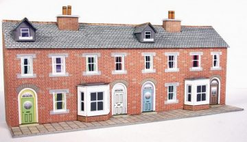 Low Relief Red Brick Terraced House Fronts