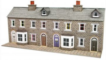 Low Relief Stone Terraced House Fronts