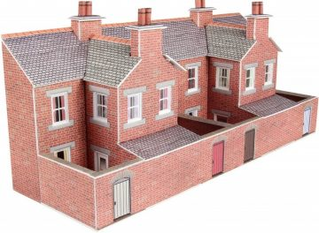Relief Red Brick Terraced House Backs