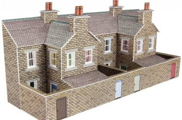 Low Relief Stone Terraced House Backs