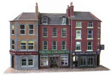 Low-relief Pub & Shops