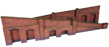 Tapered Retaining Wall in Red Brick