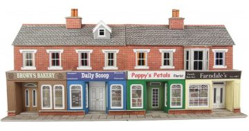 Low Relief Red Brick Shop Fronts