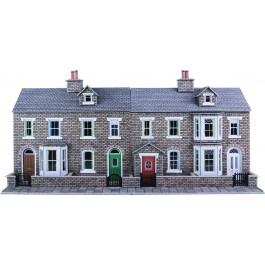 Low relief Terraced House Fronts