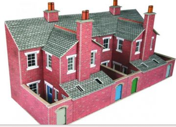 Low Relief Red Brick Terraced House Backs