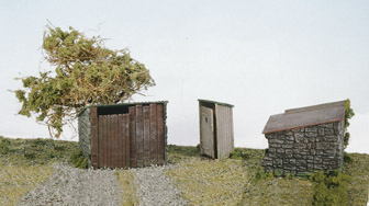 Grotty Huts & Privy