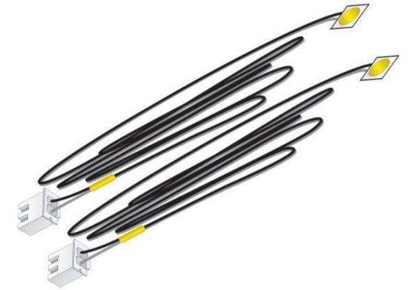 Yellow Stick-on LED Lights